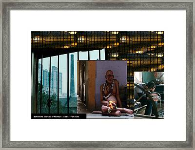 What Is Behind The Glamour And Sparkles Of Sin City Mumbai Framed Print by Navin Joshi