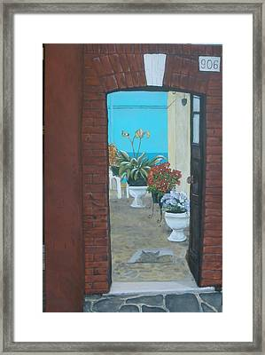 Framed Print featuring the painting What Is Inside... by Betty-Anne McDonald