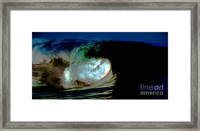 What Is It Fantasy Fusion Accidental Discovery Art  Psychedelic Framed Print by Navin Joshi