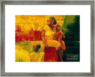 What Is It Ma Framed Print by Bayo Iribhogbe