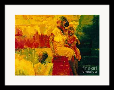 Protective Paintings Framed Prints