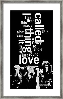 What Is The Name Of The Song? Queen. Crazy Little Thing Called Love.  Framed Print by Pablo Franchi