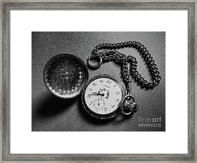 What Is The Time? Framed Print by Jasna Dragun
