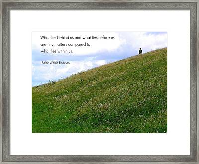 What Lies Behind And Before Framed Print by Jen White