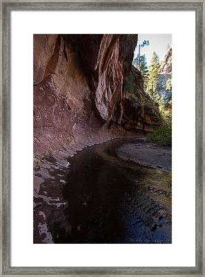 What Lies Behind The Corner 2 Framed Print