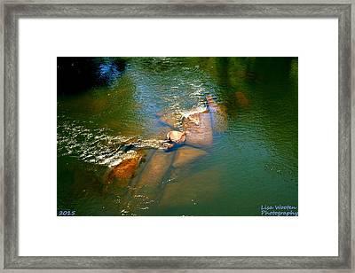 What Lies Beneath Framed Print by Lisa Wooten