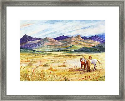 Framed Print featuring the painting What Lies Beyond by Marilyn Smith