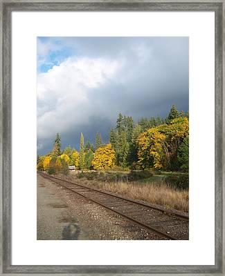 What Lies Beyond The Tracks Framed Print