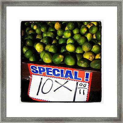 Framed Print featuring the photograph What Lime Shortage? #dontbelievethehype by Mr Photojimsf