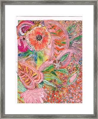 What Makes You Happy II Framed Print by Anne-Elizabeth Whiteway