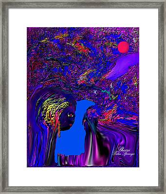 Framed Print featuring the digital art What Planet Are You Going To by Sherri  Of Palm Springs