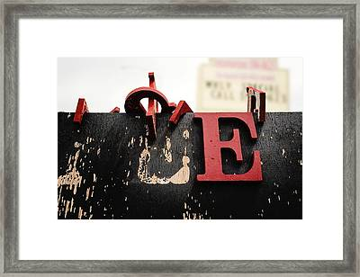 What Rhymes With E Framed Print