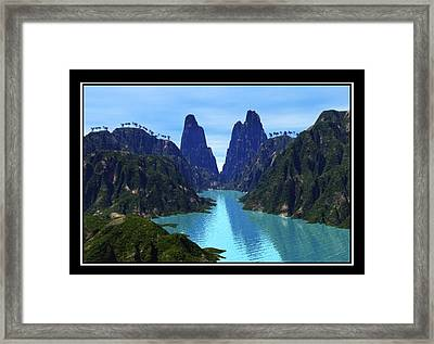 What River Framed Print by William  Ballester