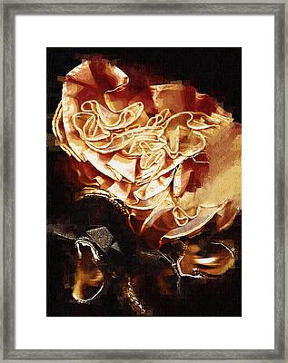 What She Left Behind Framed Print by Cynthia Villa