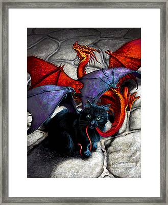 What The Catabat Dragged In Framed Print