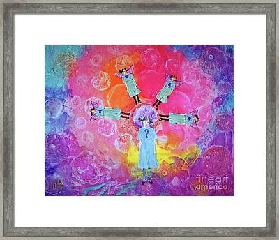 Framed Print featuring the mixed media What To Do by Desiree Paquette