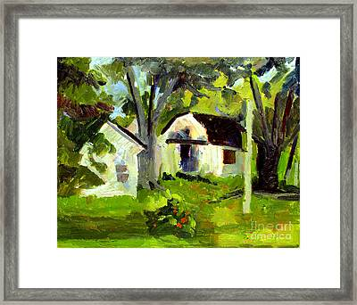What White And Green Framed Print by Charlie Spear