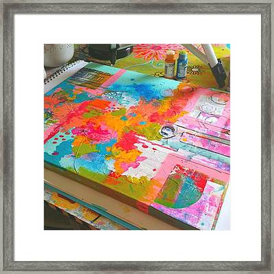 What Will This Be...#abstractart Framed Print