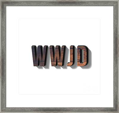 What Would Jesus Do Tee Framed Print by Edward Fielding