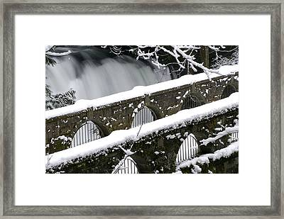 Whatcom Falls Winter 08 2 Framed Print by Craig Perry-Ollila