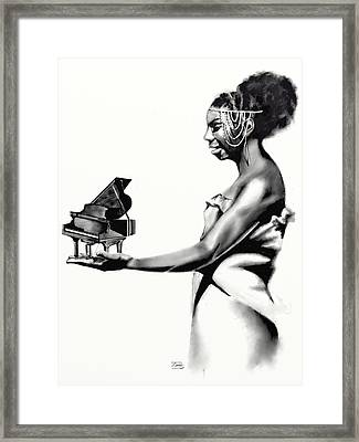 Whats Hapnin Ms Simone Framed Print