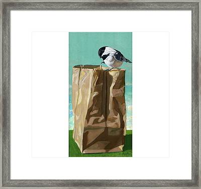 What's In The Bag Original Painting Framed Print