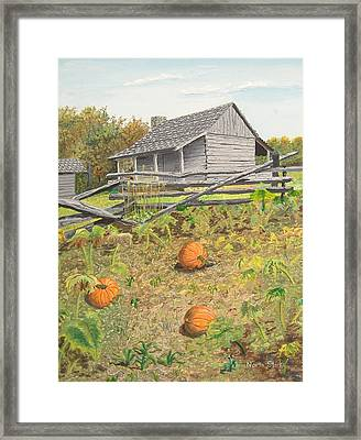 What's Left Of The Old Homestead Framed Print by Norm Starks