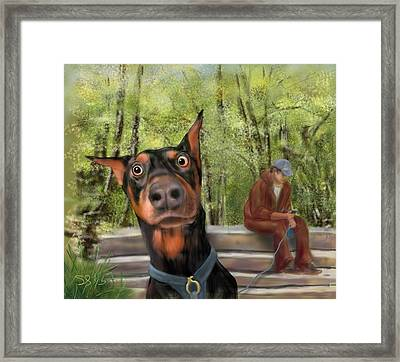 What's That I Hear? Framed Print