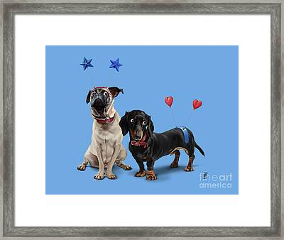What's The Deely? Colour Framed Print