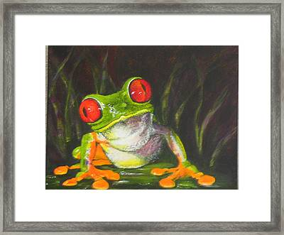 Framed Print featuring the painting What's Up by Pauline  Kretler
