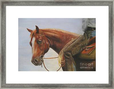 Whats Up Framed Print by Sabina Haas