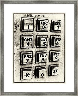 What's Your Number? Framed Print by Caitlyn  Grasso
