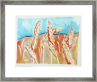 Wheat Field Framed Print by Loretta Nash