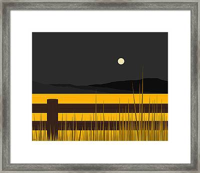 Wheat Field Framed Print by Val Arie