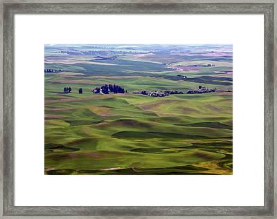 Wheat Fields Of The Palouse - Eastern Washington State Framed Print by Daniel Hagerman