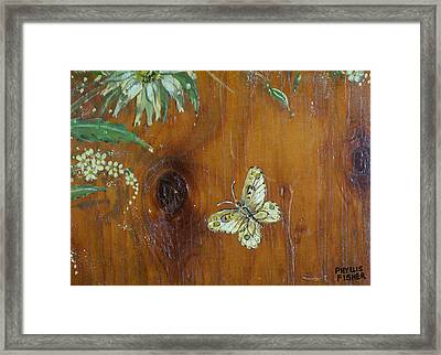Wheat 'n' Wildflowers II Framed Print by Phyllis Mae Richardson Fisher