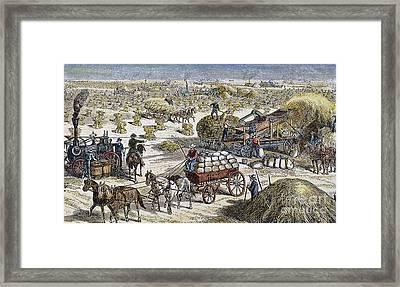 Wheat Thresher, 1878 Framed Print by Granger