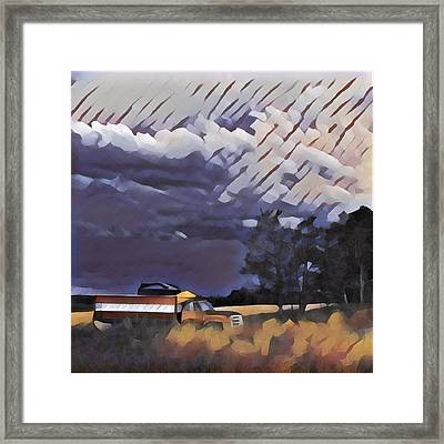 Wheat Wagon Framed Print