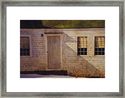 Wheathered Side Framed Print by Tyler Ryder