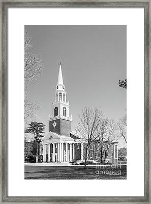 Wheaton College Cole Memorial Chapel Framed Print by University Icons