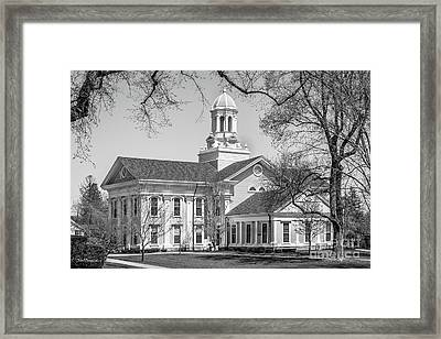 Wheaton College Mary Lyon Hall Framed Print by University Icons