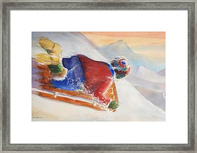 Wheee Framed Print by Marilyn Jacobson