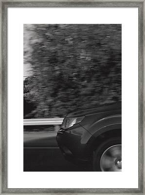 Wheel Blur Photograph Framed Print