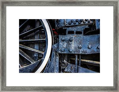 Wheel In Black II Framed Print by Jae Mishra