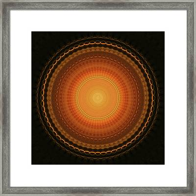 Wheel Kaleidoscope Framed Print