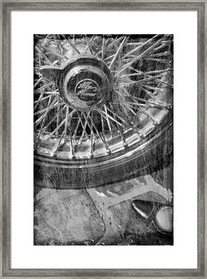 Framed Print featuring the photograph Wheel Of An Old Car. by Andrey  Godyaykin