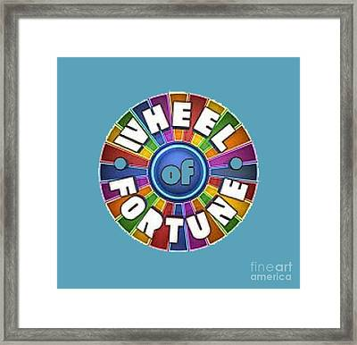 Wheel Of Fortune T-shirt Framed Print