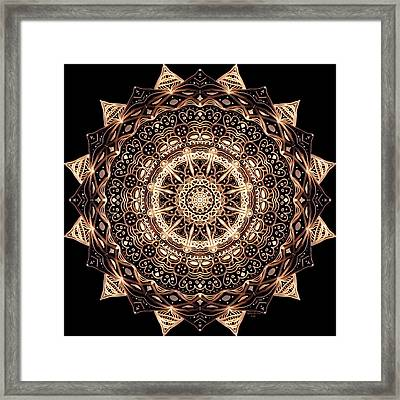 Wheel Of Life Mandala Framed Print