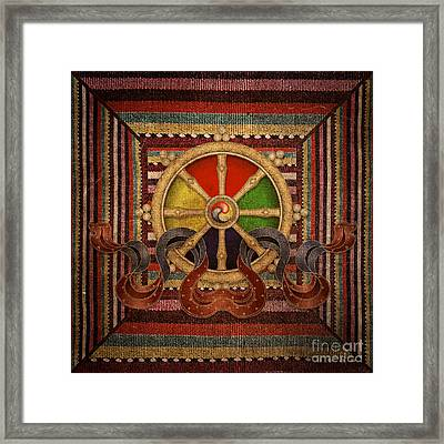 Wheel Of The Dharma Framed Print