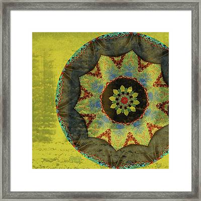 Wheel Of Time Framed Print by Bonnie Bruno